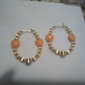 14 karat gold plated beads and bangles handmade